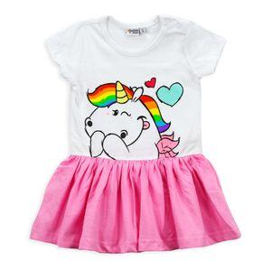 Pummeleinhorn Baby Kleid Mädchen weiß rosa Pummelfee 12-24 Monate (86/92)