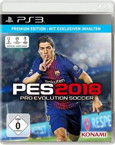 PES 2018, Pro Evolution Soccer, PS3-Blu-ray Disc (Premium Edition)