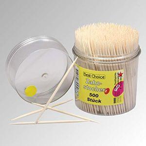 500 Stück Zahnstocher aus Holz