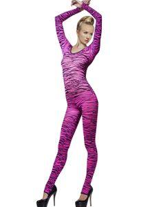 Fever Lingerie - Pinker Catsuit mit Zebramuster, Größe:S/L