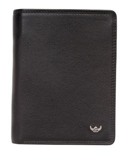 Golden Head Polo RFID Protect Billfold Coin Wallet With Snap Closure Black