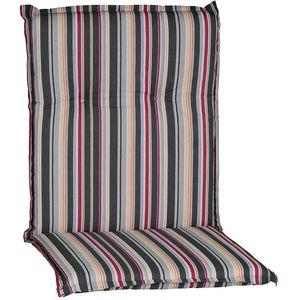 Gartenstuhl-Auflage Barcelona – Niedriglehnerauflage für Gartenstühle, Dessin:Narrow Stripes, Anzahl:1x