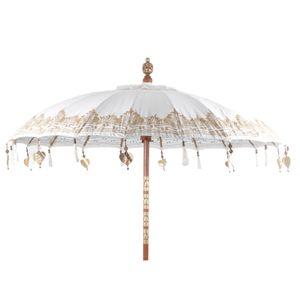 Pole to Pole - Bali Parasol White