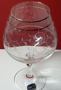 Cognacgläser Kristall Bohemia, Cognacschwenker, Lilly Platin, 400 ml, 6er Set
