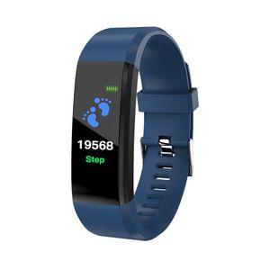 Blutdruck Sauerstoff Herzfrequenz Fitness Smart Watch Sport Armband Armband Blau
