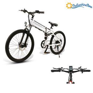 "Samebike LO26 500W 26""Elektrische Fahrrad E-Bike Elektrofahrrad Citybike Trekking Klappbar 25km/h 21S 48V LCD Weiß"