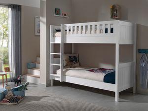 Vipack Etagenbett Lewis - Farbe: Weiß, Maße: 211 cm x 174 cm x 96 cm; LESB9014