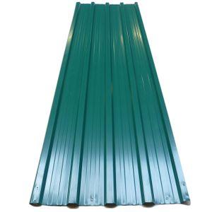 Deuba 12x Trapezblech 129cm x 45cm = 7m² verzinkt Profilblech Dachblech Wellblech Dachplatten Gerätehaus Carport Grün