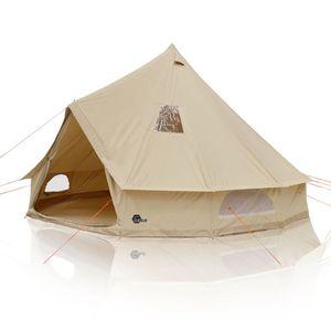 yourGEAR Desert 10 Mann Campingzelt Tipi mit Stehhöhe Familienzelt aus Baumwolle mit Bodenwanne und UV50+ Schutz