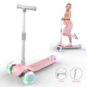 MiniBoss 3 räder Kick Scooter für Kinder, Kinder Scooter mit breiterem Deck, abnehmbarer Kleinkind Roller mit verstellbarem Lenker und blinkenden Rädern für Jungen Mädchen von 2 bis 8 Jahren Dreiradscooter