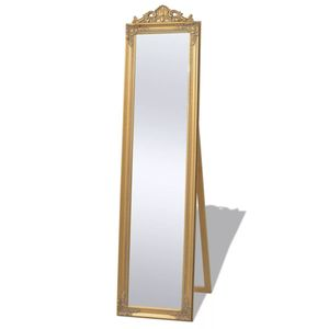 vidaXL Standspiegel im Barock-Stil 160x40 cm Gold