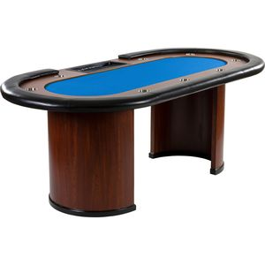 GamesPlanet® XXL Pokertisch BLAU ROYAL FLUSH, 213x106x75