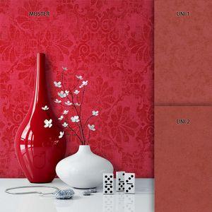 Barocktapete Wohnzimmer Metallic Vinyl Barock Klassik Neo-Klassik Barock Glamour Modern Ornament   Rosso Rot - Muster 1