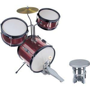 Small Foot 2067 Schlagzeug 'Profi', schwarz/rot/weiß, 6-teilig (1 Set)