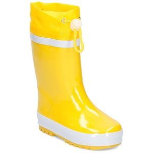 Playshoes Gummistiefel Basic gefüttert, in gelb, Größe 32/33
