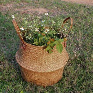2 Stück Faltbar und aufhängbar Blumentopf Vase Korb Grünpflanze Halter Wäschekorb Blume Pflanzer Spielzeug Lagerung Veranstalter