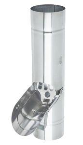 Zambelli VM BlankZinc® Regenwasserklappe mit Sieb 100 mm