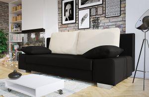 Mirjan24 Sofa Laura, Couch mit Bettkasten und Schlaffunktion, Couchgarnitur, freistehendes Schlafcouch, Schlafsofa vom Hersteller, Polstersofa (Porto 36 + Porto 1)