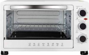 WOLTU BF11ws Mini Backofen 25 Liter, 1400 Watt Toasterofen | Pizzaofen | Krümelblech mit Timer Minibackofen für Pizza, Toast, Weiß