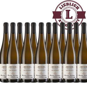 Weißwein Rheinhessen Riesling Weingut Becker Spätlese Barrique lieblich (12 x 0,75 l)