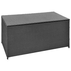 vidaXL Gartenbox Schwarz 120x50x60 cm Poly Rattan