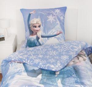 Disney Eiskönigin Elsa Biber Flanell Wende Bettwäsche Set 80x80 cm 135x200 cm