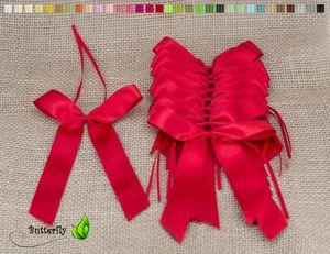 Antennenschleifen Hochzeit, 10 Stück, Farbauswahl:rot 250