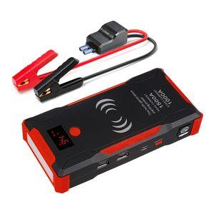 22000mAh Auto Starthilfe Jump Starter Ladegerät Starthilfe Booster LED Powerbank
