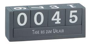 Countdown Würfel aus Holz - Sprüche Würfel - Farbe: grau