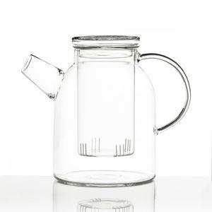 Jumbo Teekanne XXL Dimono® aus Borosilikat-Glas mit Teesieb Teefilter Glaskanne 1800ml