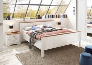 Doppelbett Jasmin Anderson Pine Nb. Artisan Eiche Nb. Bett Schlafzimmer MDF