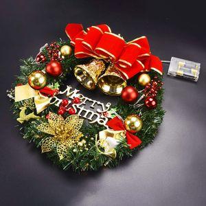 Weihnachtskranz, Türkranz Weihnachten   Kranz Weihnachtsgirlande mit Kugeln Handarbeit Weihnachten Garland Deko-Kranz