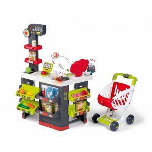 Smoby - Supermarkt - Kinderhändler - laufender Trolley enthalten - True Calculator - 42 Zubehör