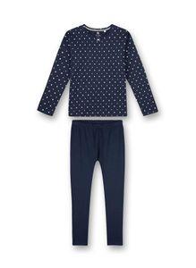 Sanetta Mädchen Pyjamas-Nachtwäsche in der Farbe Blau - Größe 128