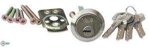 Zylinder Rundzylinder Trommelzylinder Türzylinder Außenzylinder YALE Nickel Satina