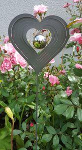 Skulptur Love Herz 80 cm Edelstahl Beetstecker Gartenstecker