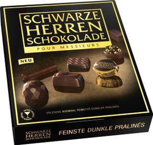 Schwarze Herren Schokolade Pralinen 124g