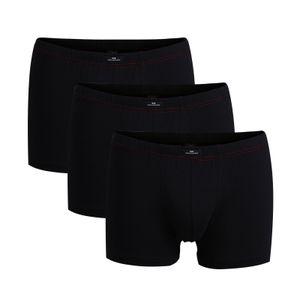 Götzburg Herren Pants 3er Pack - Single Jersey, Unterwäsche Set, Baumwolle Stretch Schwarz XL