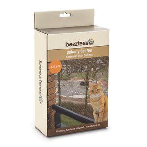 Beeztees Katzenschutznetz für Balkone Transparent 6 x 3 m 410483