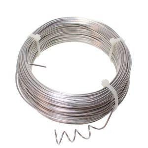 60m Aludraht Ø2mm Aluminiumdraht Schmuckdraht Basteldraht Biegedraht silber