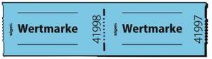500 Bons Sigel Gutscheinmarken-Rollen GR555 Wertmarken Bonrolle  Abrisse blau