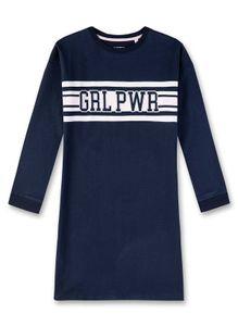 """Sanetta Mädchen Nachthemd - Sleepshirt, Langarm, """"GRL PW"""" Schriftzug, blau  140 (8-9 Jahre)"""