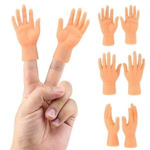 2X Finger Hände Mini Finger Aufsteck Hand Fingerpuppe Handpuppe Gummihand Kinder Geschenk Spielzeuge Puppe