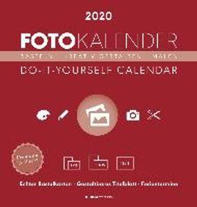 Foto-Bastelkalender 2020 datiert, rot