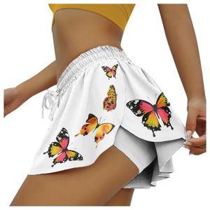 Damen Sommer Mode Kordelzug Culottes Design Sport Shorts Größe:M,Farbe:Orange