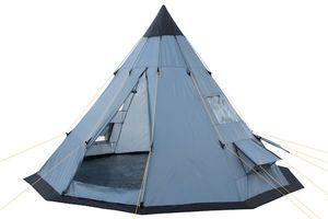 """CampFeuer Tipi Zelt """"Spirit"""" für 4 Personen   grau   Firstzelt   3.000 mm Wassersäule"""