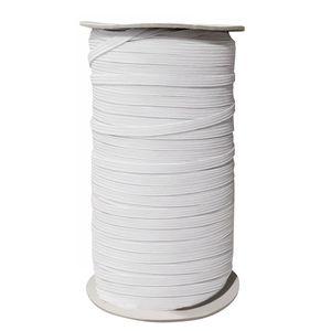 HAWEE 82m Länge 3mm Breite Geflochtenes Gummiband Elastische Schnur Schwere elastisches Seil Stretch-Strickware mit Hoher Elastizität Gummiband für Stricknäharbeiten Maske DIY-Ohrbandschlaufe Nähen Basteln DIY Tagesdecke Manschette, Weiß