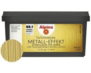 Alpina Farbrezepte Effektlasur Metall-Effekt Farbton Gold 1 liter für 7-10 m2