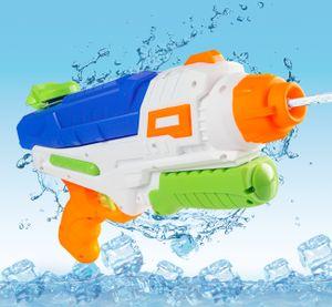 ilauke Wasserpistole mit ca.0.6 L Wassertank, Pump-Action – Wasserblaster mit 10M/ 32.8FT Reichweite, HY1484