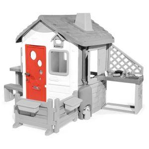 Smoby Haustüre für Neo Jura Lodge, Spielhaus-Tür, Grau, Rot, Kunststoff, Frankreich, 904 mm, 30 mm